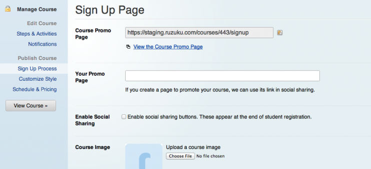 enable Social Shout on your Sign Up Page Settings