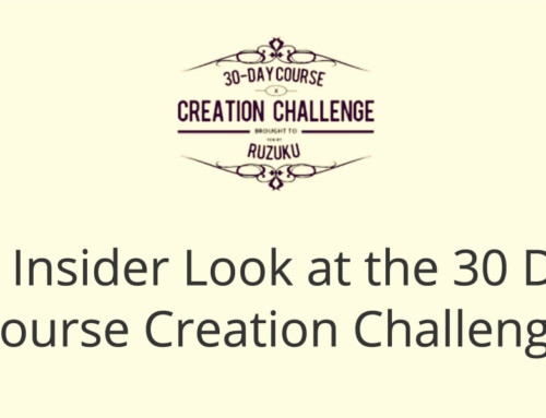 An Insider Look at the 30 Day Course Creation Challenge